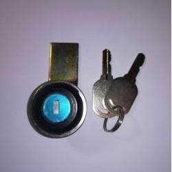 Κλειδαριά μεταλλική σε μάυρο χρώμα & διαφορετικό κλειδί - MS-407C - Noratex