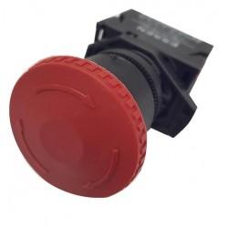 Button mushroom / With locking - Φ40 Red - Plastic type - SDL16-ES542 - Xindali