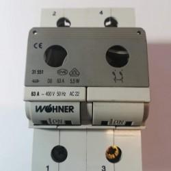 Ασφαλειοδιακόπτης -Neozed D0 - 2Pol 63A - Wohner