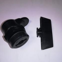 Κλειδαριά πλαστική με πλαστική κοντή γλώσσα κ πλαστικό κλειδί - BPL - Noratex
