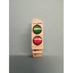 Indicator light Rail -  Green / Red - SV 100 - hager