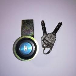 Κλειδαριά μεταλλική σε μάυρο χρώμα & Όμοιο κλειδί - MS407 - Noratex